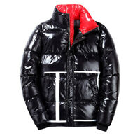 Fashion Winter Men's Puffer Padded Down Cotton Jacket Thick Warm Outwear Parkas