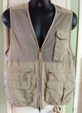 ExOfficio Insect Repellant  Fishing Vest M Unisex Khaki 100% Nylon Lotta Pockets