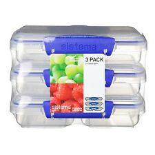 Sistema Klip It Collection 3-Pack Small Split Food Storage Containers, 1513 New