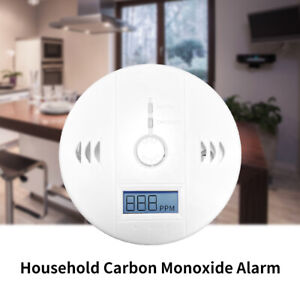 Kitchen LCD Combination Carbon Monoxide Gas Detector Alarm Battery Warning Home