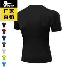 Premium Men's Compression Top Tight Short Sleeve T-Shirt Quick Drying Breathable