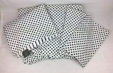 Ralph Lauren Black White Polka Dot Queen Sheet Set Fitted Flat (2) Pillow Cases
