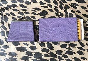 Bundle Penhaligon's Lilac Purple Leather Coin Change Purse & Matchbox Cover