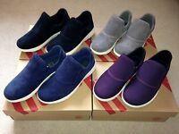 Fitflop Loaff Sporty Slip on Sneakers Trainers Shoes Navy Grey 4 6 7 RRP £79