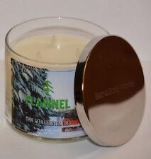 Bath & Body Works Flannel made w Essential oils Scented 3 WICK Candle 14.5oz