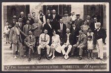PISTOIA MONTECATINI 132 BAGNI - TORRETTA Agosto 1928 Cartolina FOTOGR. viaggiata