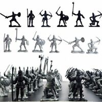 60Pcs Medieval Knights Warriors Kids Toy Soldiers Figure Models kid gift Great