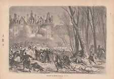 Einnahme des Château de Chambord HOLZSTICH 1871 Guerre franco-allemande de 1870