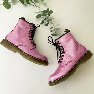 New Dr. Martens 1460 Glittery Pink Boots Shoes Sz 7