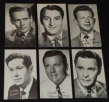 1950's - MOVIE STARS - ARCADE /VENDING MACHINE - EXHIBIT CARDS (6) - ORIGINAL