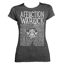 World of Warcraft / RPG inspired AFFLICTION WARLOCK Ladies Fitted T-shirt