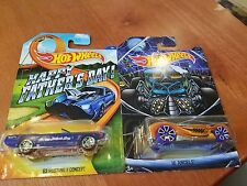 Hot Wheels 63 Mustang Concept 16 Angels NEW! Lot x2 Happy Father's Day Halloween