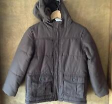 NWT Boy Gymboree dark brown casual dress fall winter puff barn coat jacket M 7 8