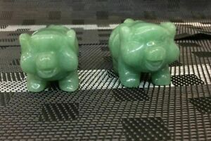 Jade Pig Statue - PAIR Medium I-Year of the Pig-Bring the Prosperity to the year