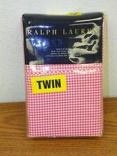 Ralph Lauren Blue Gingham Twin Sheet Flat Sheet ~ Gingham RL CLassic Pink NEW