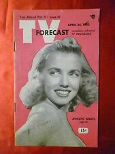 Chicago April 26 1952 TV Forecast guide HAIL THE CHAMP Angel Casey Johnnie Ray