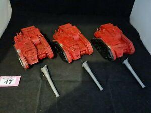 Warhammer Forgeworld Solar Auxilia Basailisk X 3