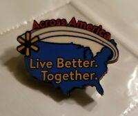 Walmart Associate Pin! Wooden! Across America! Live Better. Together. New!