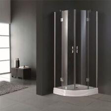 205x80cm Shower Cabin Enclosure Cubicle Quadrant Bathroom Screen Base Glass