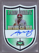 2014 Leaf Valiant Draft Honor Guard Die Cut #HGAM1 Aaron Murray Auto