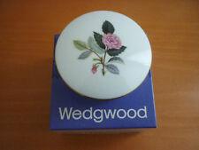 VINTAGE WEDGWOOD HATHAWAY ROSE ROUND LIDDED TRINKET BOX IN ORIGINAL BOX ENGLAND