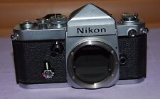 Nikon F2 With DE-1 Eye Level 35mm SLR Film Chrome Body Camera -- Good Condition