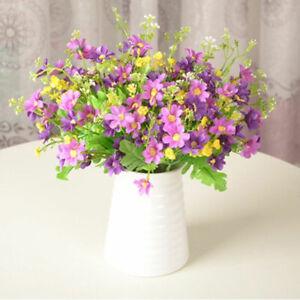 28 Heads Artificial Floral Fake Silk Daisy Flowers Bouquet Home Wedding Decors