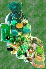 ST. PATRICKS DAY Party Beads Craft Decoration Plush Shamrock Leprechaun  LOT 59