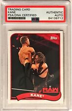 2018 Topps Heritage WWE WWF Kane Signed Trading Card PSA/DNA Slabbed