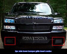 Fits 03-06 Chevy Silverado 1500 SS Black Bumper Billet Grille Insert