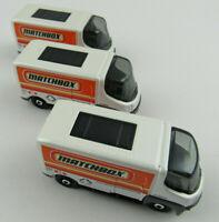 Lot of 3 Matchbox eStar Electric Vans w/ Matchbox Logo