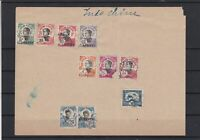 Indo-Chine Stamps Stuck on Piece  ref 22177