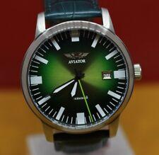 Vintage Soviet watch Green Poljot STURMANSKIE AVIATOR 17 jewels steel Rare USSR