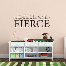 She Is Fierce Wall Sticker Inspirational Saying Vinyl Girl Nursery Bedroom Decor