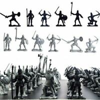60Pcs Medieval Knights Warriors Soldiers Figure Model Toy Playset Xmas Gifts #US