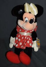 "Vintage Minnie Mouse Plush Doll Disney Applause With Tags 17"" White Bow 8539"