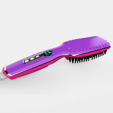 2016 New Electric Hair Straightener Brush Comb LCD Ion Anti-Scald Auto Massager