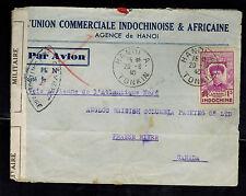 1940 Hanoi Viet Nam Censored Airmail Cover to Canada
