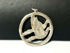 Pendant . Signed Wallace Vintage Sterling Silver Birds