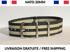 20MM ★ NATO Bracelet Montre Chronograph Watch Band Strap Nylon Military Army 007