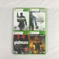 Lot of 4 XBOX 360 games Wolfenstein Dead Space 3 Call of Duty complete tested