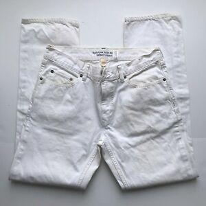 BANANA REPUBLIC Vintage Straight Fit 100% Cotton White Denim Jeans 34X32