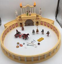 Playmobil 4270 Roman Colluseum History Rare Roman Arena, Chariot, lion, tigers.