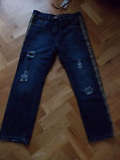 BNWT DIXIE LADIES DONNA DENIM PANTS TROUSERS JEANS PANTALONI MADE IN ITALY SMALL