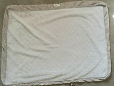 New listing Dog Bed Cover/Duvet Extra Large Beige Sherpa with Gray Zipper