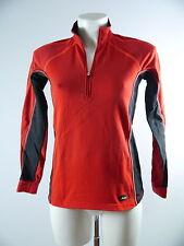 Löffler Damen Funktions Langarm Shirt Sport Fleece Gr. 36 XS Rot Schwarz