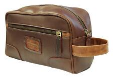 AsdruMark Brown & Cognac Leather Wash Bag