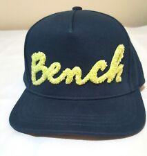 Bench Baseball Cap Fetch Snapback Blue Structured Green Logo RN 111817 Cotton