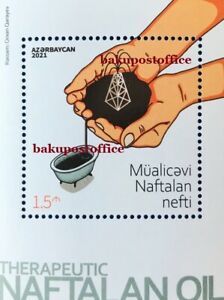 Azerbaijan stamps 2021 Therapeutic Nafta Azerbaijan stamps Souvenir sheet