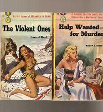 D256 Lot Of 2 Gold Medal  Mystery Vintage Paperback Books